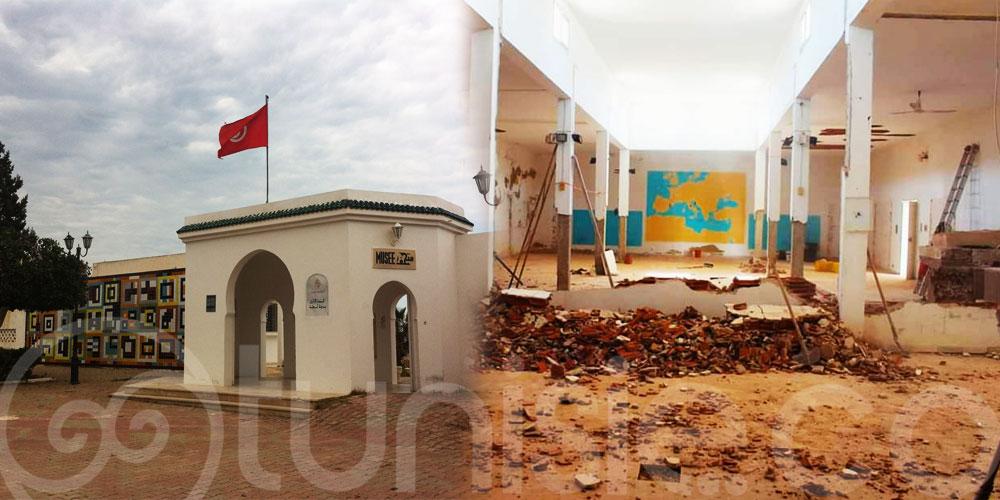 بالصور : تواصل اشغال الصيانة والتجديد بمتحف لمطة الأثري