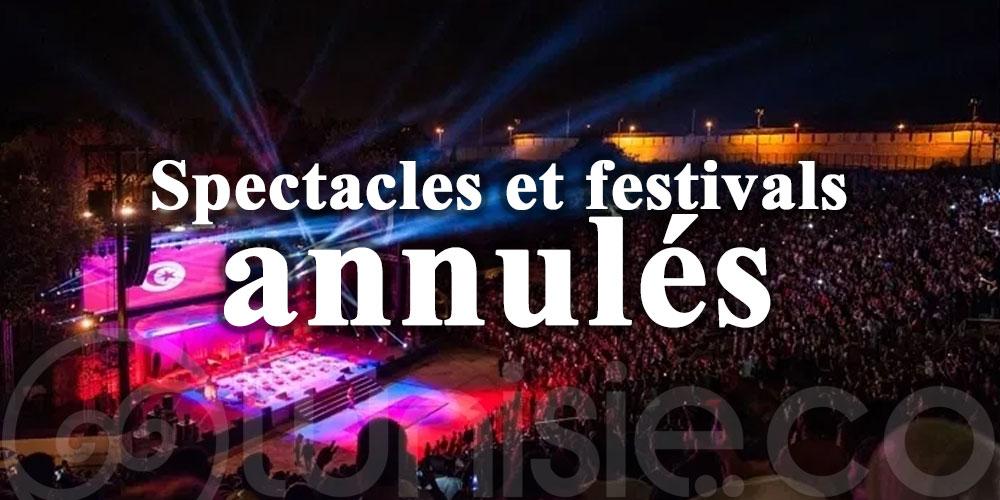 Spectacles et festivals annulés à Manouba