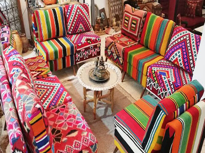 Les meubles s'habillent en Margoum