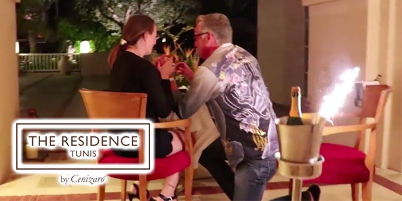 En vidéo : Une romantique demande en mariage au Residence Tunis