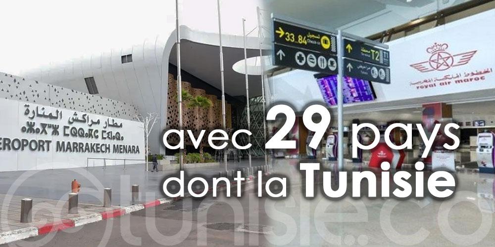 Le Maroc suspend tous ses vols avec la Tunisie