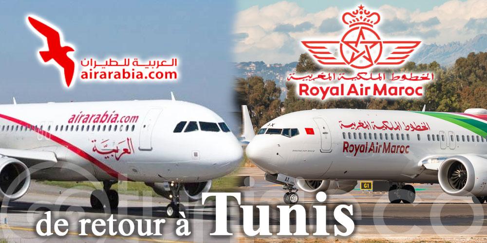 Royal Air Maroc et Air Arabia Maroc de retour à Tunis à partir de ce mercredi