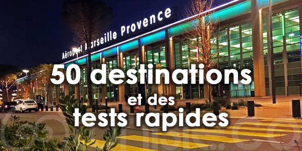 Marseille: 50 destinations pour les fêtes de Noël dont Tunis et des tests rapides