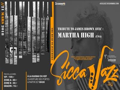 Martha High en Concert à la clôture du festival Sicca Jazz  le 21 Mars au au Kef