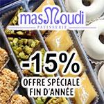 -15% sur les pâtisseries MASMOUDI pour le Réveillon et Noel des tunisiens en France