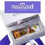 Un Coffret Gourmand de Chez Masmoudi estampé avec votre logo comme cadeau d´entreprise idéal
