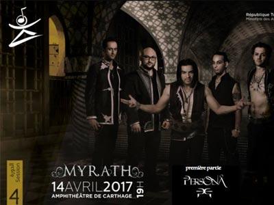 JMC 2017 : Méga-concert de Myrath le 14 Avril au Théâtre antique de Carthage