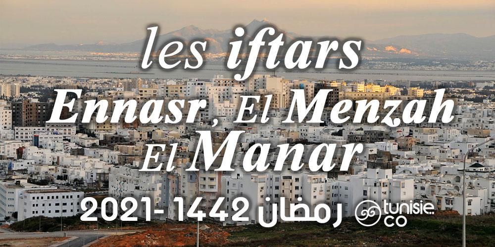 Liste des Iftars : Ennasr, El Menzah et El Manar