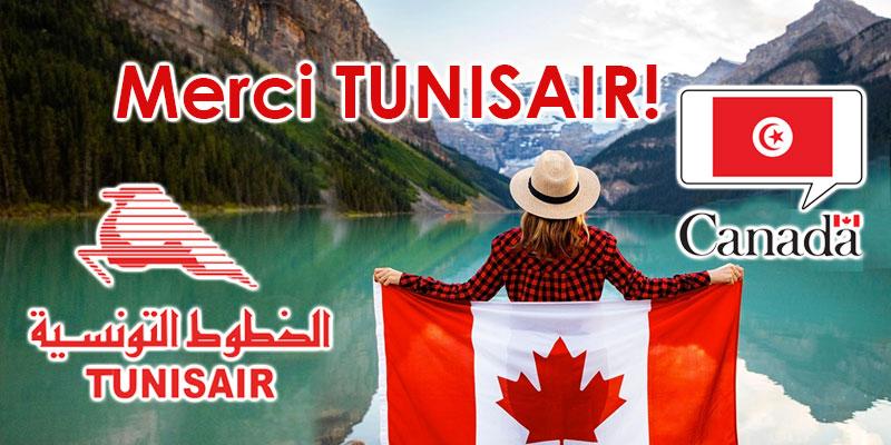 L'Ambassade du Canada en Tunisie remercie Tunisair