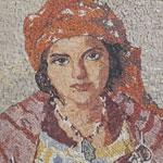 En photos : La femme rurale à l'honneur dans les oeuvres de A.Roubtzoff reprises en micro mosaïque
