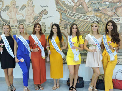 ملكات جمال فرنسا في زيارة ترويجية الى جربة و جرجيس