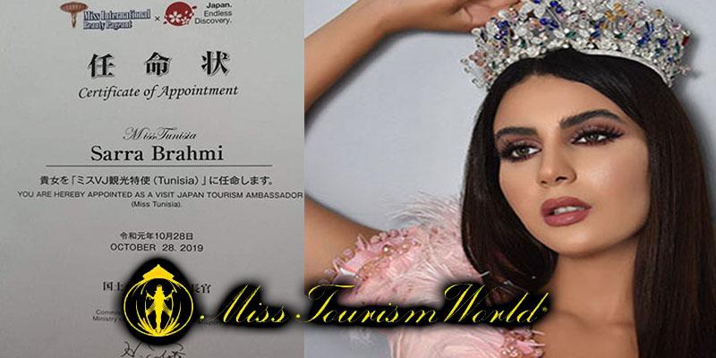 Sarra Barhoumi candidate à Miss Tourism Japan 2019