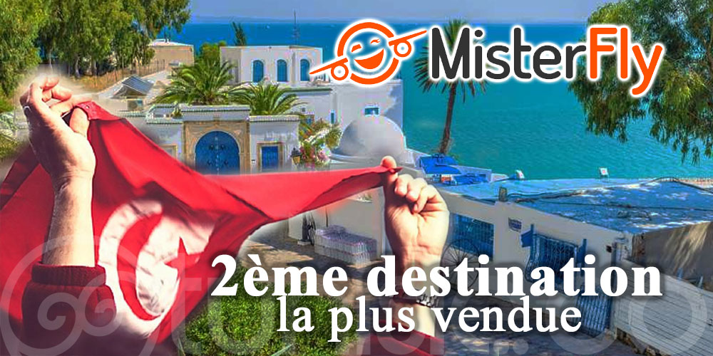 Top 20 des destinations de MisterFly : La Tunisie, 2ème destination la plus vendue