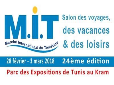 Le salon du tourisme tunisien M.I.T se tiendra du 28 février au 3 mars au Parc des Expositions de Tunis au Kram