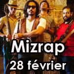 Concert du groupe MIZRAP au centre culturel Rihet Lebled à Montfleury le 28 février 2015