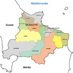 Distances entre les villes tunisiennes :  depuis Monastir