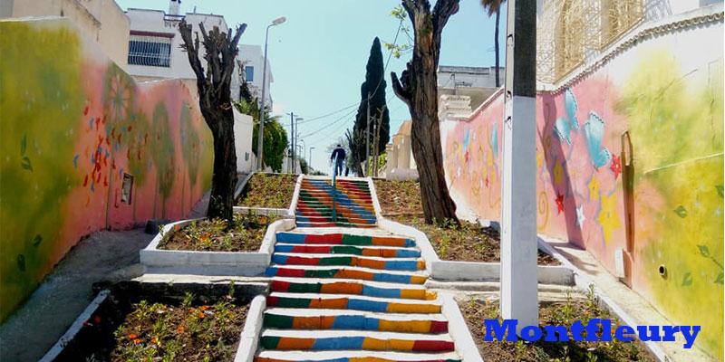 Deuxième initiative artistique dans les escaliers de Montfleury