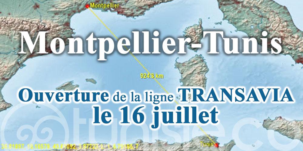 Montpellier-Tunis : Ouverture de la ligne TRANSAVIA le 16 juillet