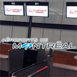 En photo : Aéroports de Montréal affiche déjà le logo Tunisair sur les desks d'enregistrements