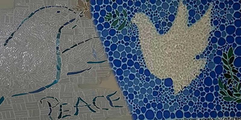 En photos : La mosaïque pour célébrer la paix !