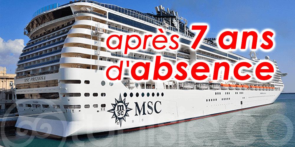 Reprise des croisières par MSC en Tunisie en 2022 après 7 ans d'absence