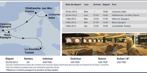Première en Tunisie: partir en croisière depuis la Goulette à bord du MSC Orchestra