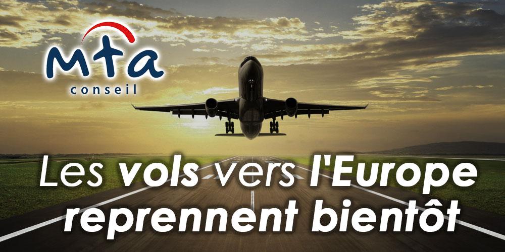 Les vols vers l'Europe reprennent bientôt