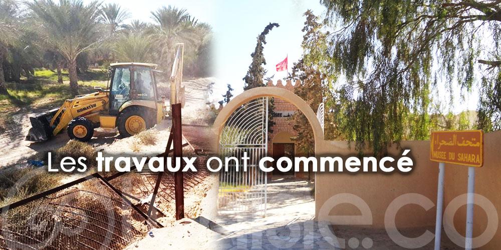 Travaux de restauration du Musée du Sahara de Douz