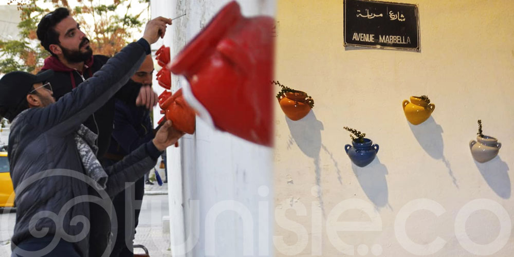 Des pots de fleurs pour embellir l'avenue Marbella de Nabeul