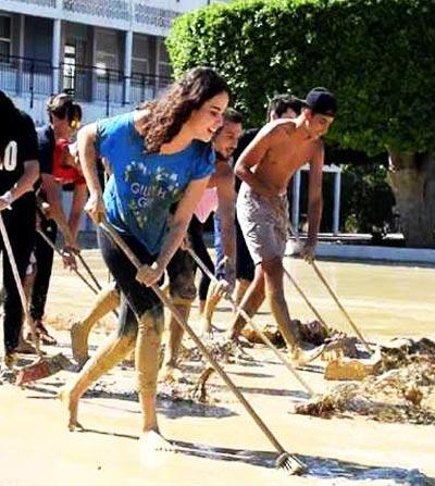 En Photos : La solidarité des jeunes Nabeuliens s'organise avec le sourire
