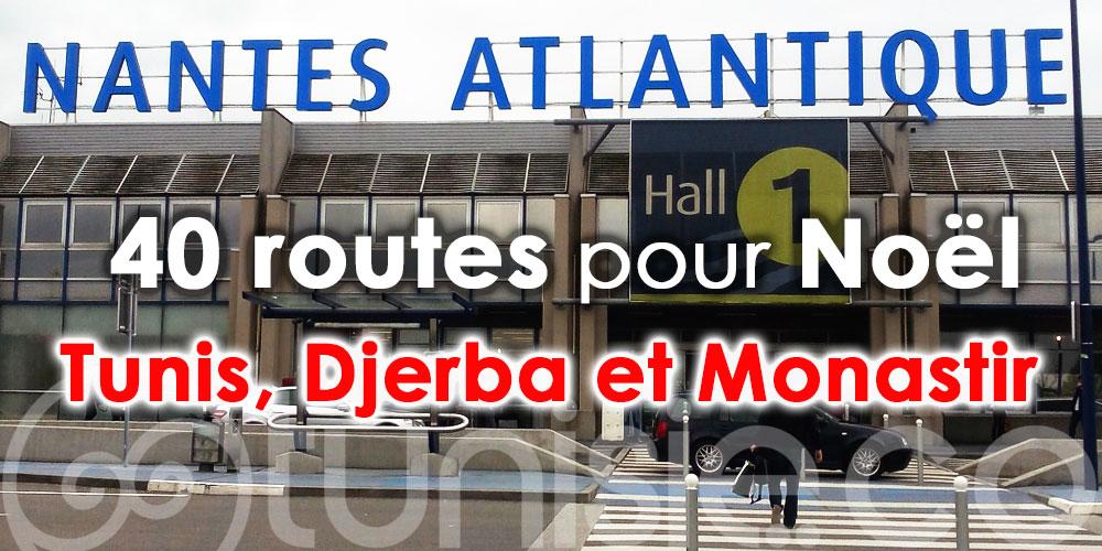 Aéroport de Nantes: près de 40 routes pour Noël dont Tunis, Djerba et Monastir