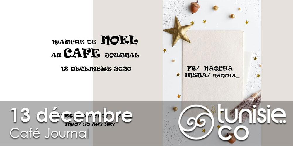 Marché de Noel au Café Journal, le 13 décembre
