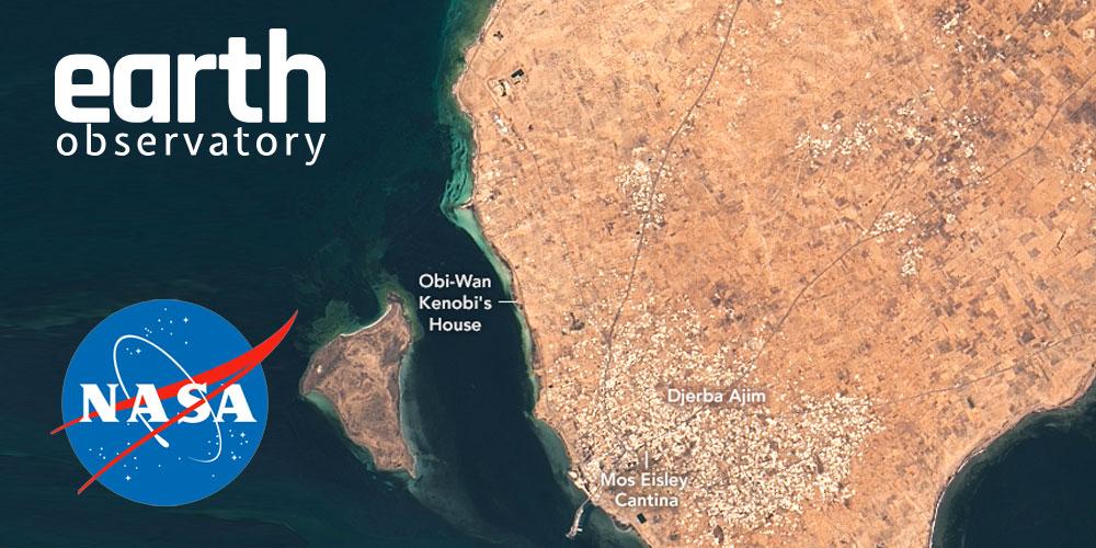 Quand la Nasa met en valeur l'ile de Djerba et le tournage Star Wars