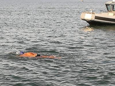 En photos : Néjib Belhedi effectue une traversée de 120 Km sans interruption