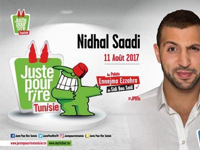 Nidhal Saadi au festival Juste Pour Rire Tunisie le 11 août