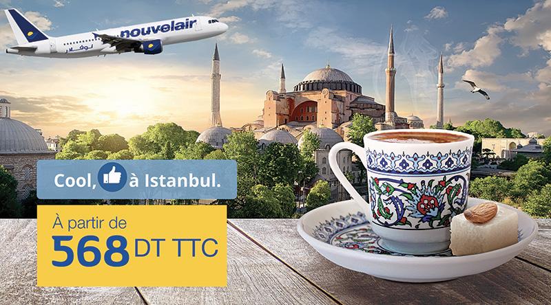 Istanbul en promo chez Nouvelair à 568 Dinars TTC