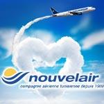 Nouvelair lance ses promos Saint-Valentin, 15 vols à partir de 99 Dt