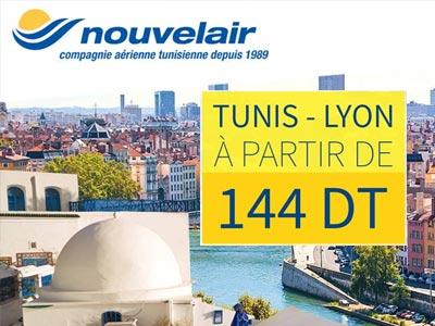 A 144 Dt avec Nouvelair, Lyon n'a jamais été aussi proche