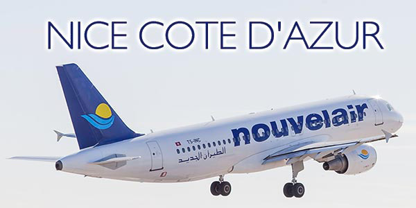 Nouvelair lance sa nouvelle ligne vers Nice à raison 5 vols par semaine