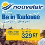Nouvelair lance ses vols vers Toulouse avec le prix le moins cher du marché