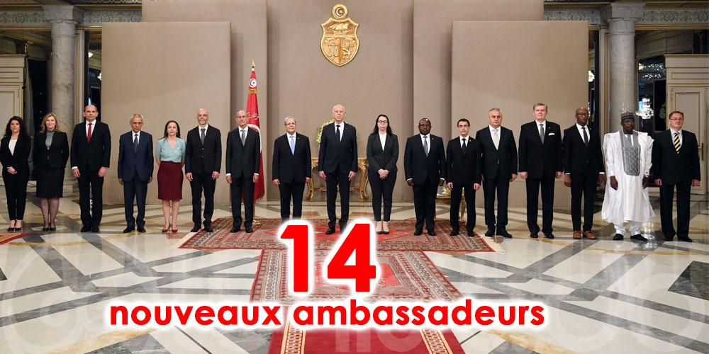 Kaïs Saïed reçoit les lettres de créance de nouveaux ambassadeurs auprès de la Tunisie