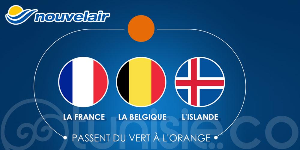 Nouvelair: Nouvelles mesures sanitaires pour les passagers en provenance de France, de Belgique et d'Islande