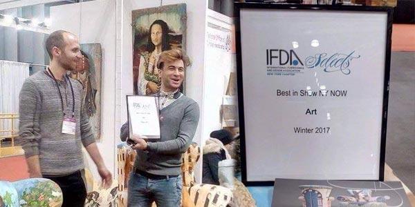 Achraf Baccouch remporte le meilleur prix du design 'Best in Show NY NOW' à New York