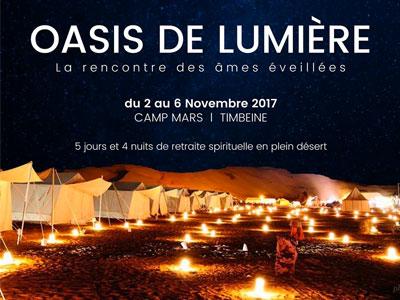 Oasis de lumière du 2 au 6 Novembre 2017