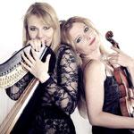Duo italien entre Harpe et Violon à 'l'Octobre Musical' ce 10 octobre 2014 à l'Acropolium de Carthage