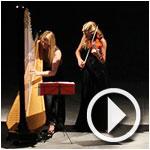 En vidéo : Ouverture de l'Octobre Musical par le duo italien entre Harpe et Violon
