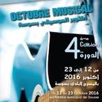 Programme complet de l'Octobre Musical à Sousse du 12 au 23 octobre 2016