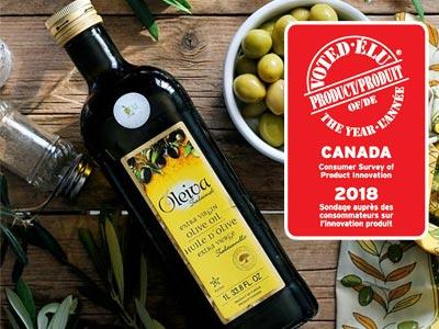 Une huile d'Olive Tunisienne élue Produit de l'Année 2018 au Canada