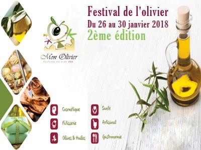2ème édition du festival de l'olivier du 26 au 30 janvier 2018 à Sfax