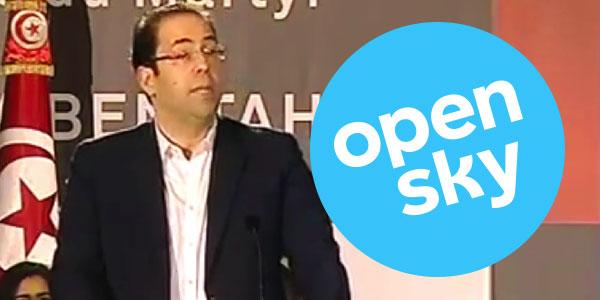 Youssef Chahed : L'Open Sky en 2017